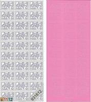 Sticker - Briefmarke Babyschuhe - rosa - 909