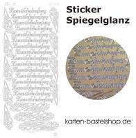 Platin-Sticker (Spiegelglanz) - Zum Schulanfang - gold - 3031