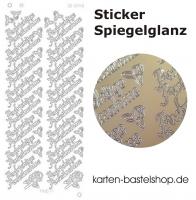 Platin-Sticker (Spiegelglanz) - Aufrichtige Anteilnahme - gold - 3040