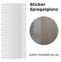 Platin-Sticker (Spiegelglanz) - Ecken und Ränder - silber - 3061
