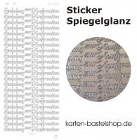 Platin-Sticker (Spiegelglanz) - Einladung zur Konfirmation - silber - 3033