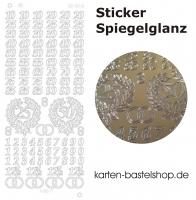 Platin-Sticker (Spiegelglanz) - Jubiläum - gold - 3048