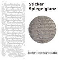 Platin-Sticker (Spiegelglanz) - Zum Schulanfang - silber - 3031