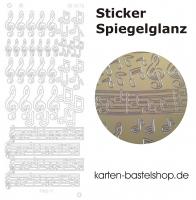 Platin-Sticker (Spiegelglanz) - Noten / Musik - gold - 3076