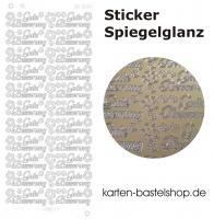 Platin-Sticker (Spiegelglanz) - Gute Besserung - gold - 3024