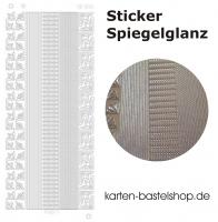 Platin-Sticker (Spiegelglanz) - Ecken und Ränder - gold - 3061