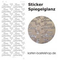 Platin-Sticker (Spiegelglanz) - Zum Geburtstag - silber - 3025
