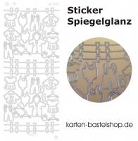 Platin-Sticker (Spiegelglanz) - Babysachen - gold - 3087