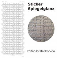 Platin-Sticker (Spiegelglanz) - Einladung - silber - 3022