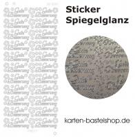 Platin-Sticker (Spiegelglanz) - Gute Besserung - silber - 3024