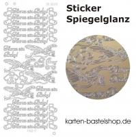Platin-Sticker (Spiegelglanz) - Hurra ein Baby! - gold - 3039