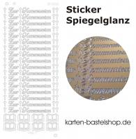 Platin-Sticker (Spiegelglanz) - Zur Kommunion - gold - 3026