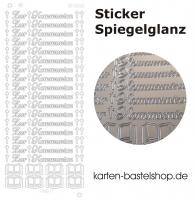 Platin-Sticker (Spiegelglanz) - Zur Kommunion - silber - 3026