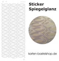 Platin-Sticker (Spiegelglanz) - Fische - gold - 3085