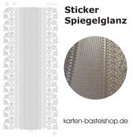 Platin-Sticker (Spiegelglanz) - Ecken und Ränder - silber - 3062
