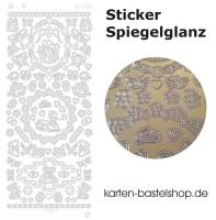 Platin-Sticker (Spiegelglanz) - Anlässe - gold - 3082