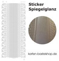 Platin-Sticker (Spiegelglanz) - Ecken und Ränder - gold - 3062