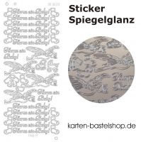 Platin-Sticker (Spiegelglanz) - Hurra ein Baby! - silber - 3039