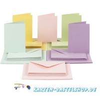 50 Doppelkarten A6 + 50 Umschläge im Set -pastell (Card Making)