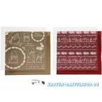Dekofolien-Set 8 - Traditionelle Weihnachten - rot / gold