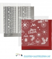 Dekofolien-Set 7 - Weihnachten - rot / silber