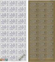 Sticker - Briefmarke Babyschuhe - gold - 909