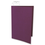5 Doppelkarten A6 purpur velvet