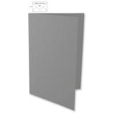 5x Doppelkarten A6 dunkelgrau (Rayher)