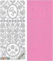 Sticker - Baby - rosa - 885