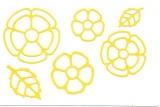 Sticker - Blumen 18 - hellgelb - 1114