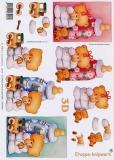 3D-Bogen Babybär mit Flasche von LeSuh (416938)