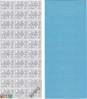 Sticker - Briefmarke Babyschuhe - hellblau - 909