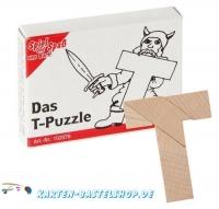 Mini-Holzpuzzle - Das T-Puzzle