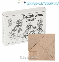 Mini-Holzpuzzle - Das zerbrochene Quadrat