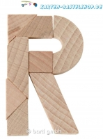 Mini-Holzpuzzle - Das zerbrochene R