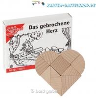 Mini-Holzpuzzle - Das gebrochene Herz