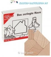 Mini-Holzpuzzle - Das zerlegte Haus