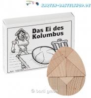 Mini-Holzpuzzle - Das Ei des Kolumbus