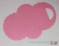 Falttäschchen / Geschenktasche - rosa