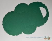 Falttäschchen / Geschenktasche - grün