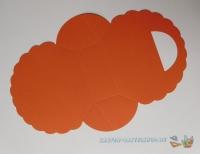 Falttäschchen / Geschenktasche - orange