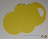 Falttäschchen / Geschenktasche - gelb
