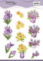 3D-Bogen - Frühlingsblumen - Jeanines Art