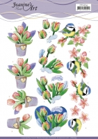3D-Bogen - Tulpen und Blüten - Jeanines Art