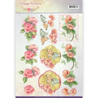3D-Bogen - Vintage Flowers - Jeanines Art (046)