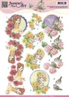 3D-Bogen - Spring Flowers - Jeanines Art