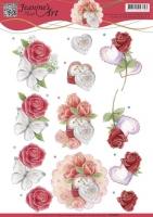 3D-Bogen - Rosen und Herzen - Jeanines Art