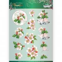 3D-Bogen - Christmas Flowers - Jeanines Art