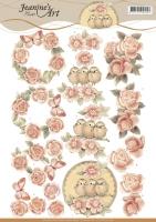 3D-Bogen - Vintage Rosen - Jeanines Art