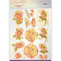 3D-Bogen - Vintage Flowers - Jeanines Art (047)